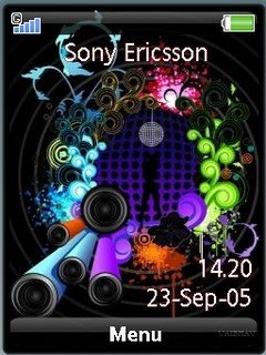 Sonyericsson theme Abstract disco