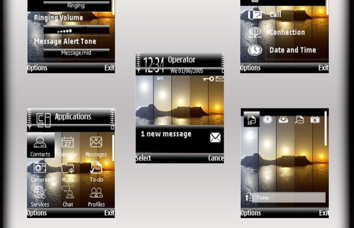 Mirror sunset s60v2 theme by shadow_20