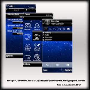 Galaxy theme for s60v5 by TheShadow