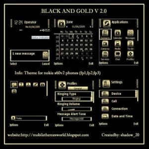 Black and gold v 2.0 - s60v2 theme