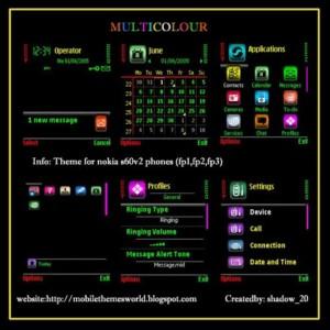 Nokia s60v2 theme Multicolour