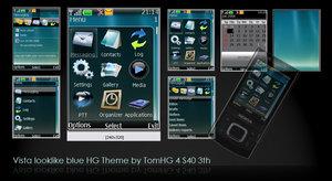 Vistablue Nokia S40 Theme