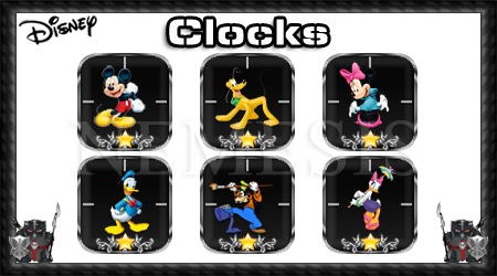 Disney clocks pack 1