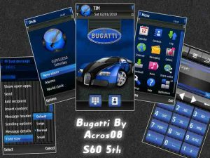 Bugatti by Acros08 symbian 5th theme