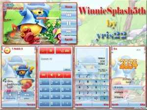 Winnie splash bear theme for symbian phones