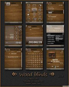 Wood blinds by LHS