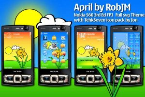 April theme for symbian os mobile phones