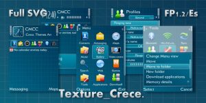 Texture by Crece with tehkseven icons