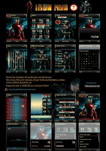 Ironman 2 s60v3 theme