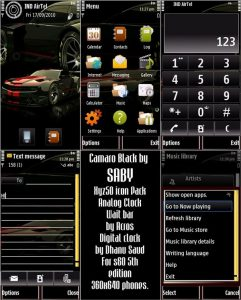 camaro black car theme