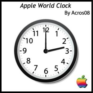 apple world theme clock