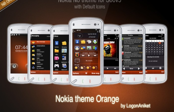 Nokia N8 theme Orange