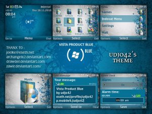 windows vista product blue