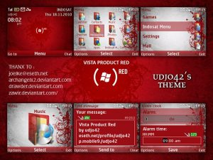windows vista themes product red