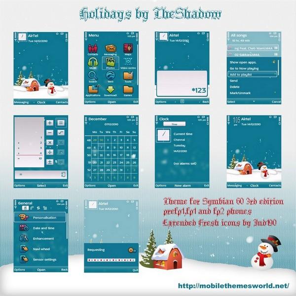 christmas holidays theme wallpaper