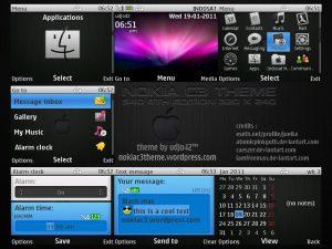 black mac os nokia c3 theme