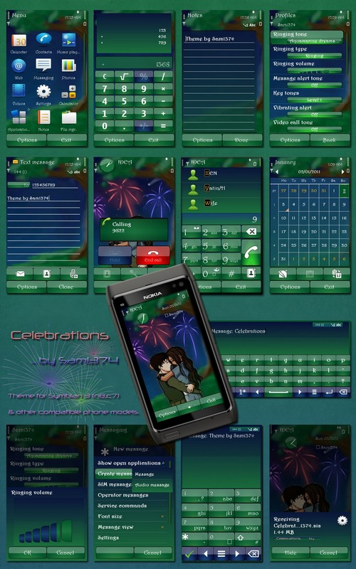 Celebrations symbian 3 theme by Sam1374