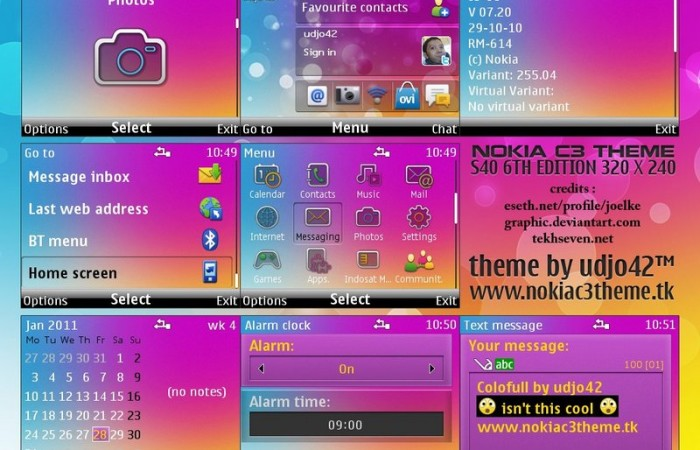 colorfull theme for s40v6 phones