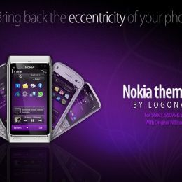 purple nokia theme by logonaniket