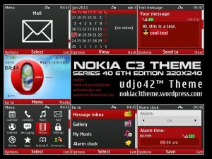 opera browser phone theme