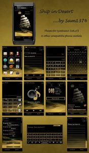 ship in desert nokia n8 theme