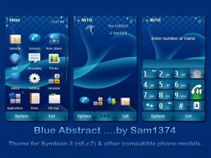 abstract nokia n8 themes blue