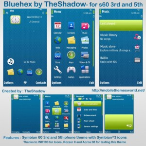 bluehex for s60v3 and s60v5 mobiles by theshadow