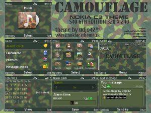 Camouflage theme for nokia