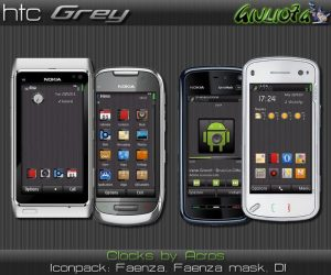 htc grey mobile theme for nokia mobiles