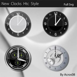 htc style mobile clocks