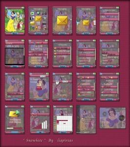 snowhite sony ericsson mobile themes