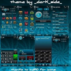 symbian^3 theme blue petal by darkside