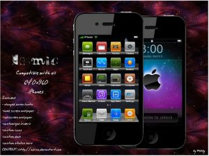 cosmic apple iphone space theme by webby