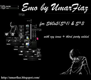 a black mobile theme emo by umar