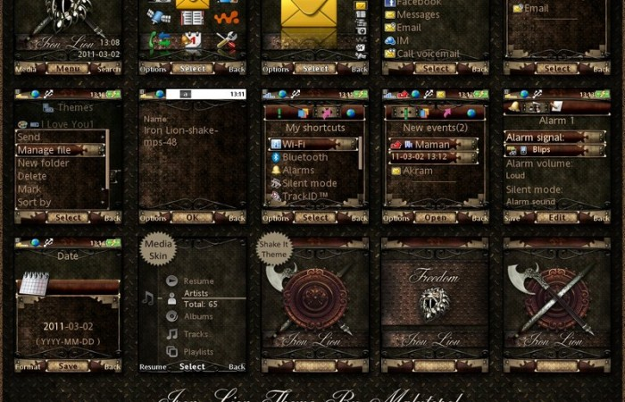 iron lion mobile themes for sony ericsson mobiles free