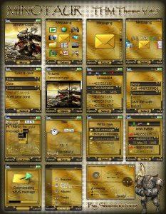 sony ericsson gold theme minotaur