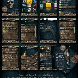 steampunk mobile themes for sony ericsson phones