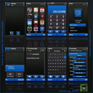 blue touch nokia theme by lhs