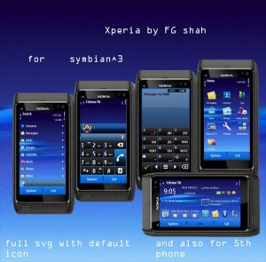 sonyericsson xperia wallpaper theme for symbian by fgshah