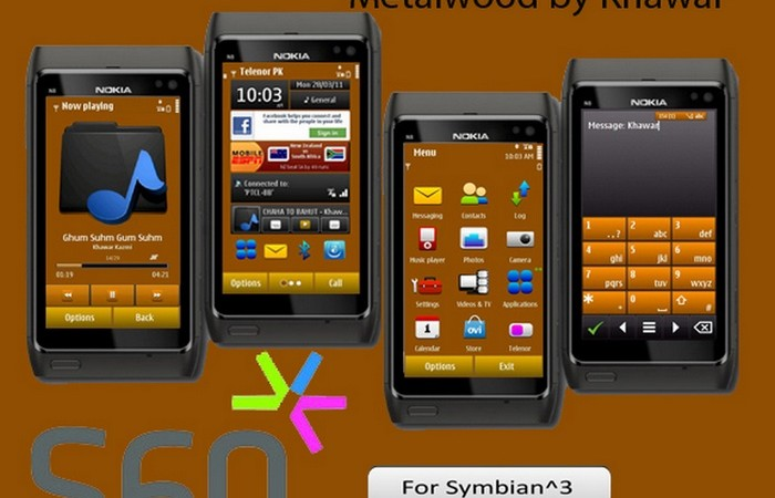wood theme for symbian3 phones by khawar