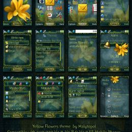 animated sony ericsson theme yellow flower