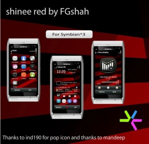 symbian themes shinee red