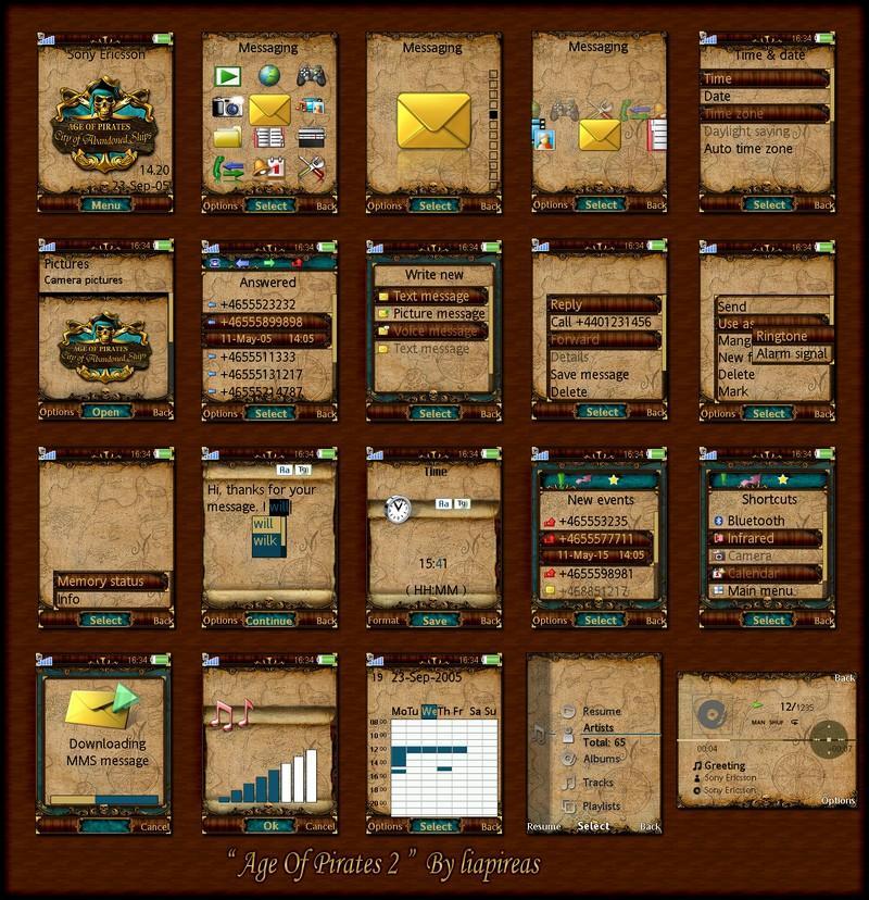 Sony ericsson age of pirates 2 theme