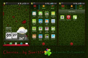 Android theme cherries by sam for android mobiles