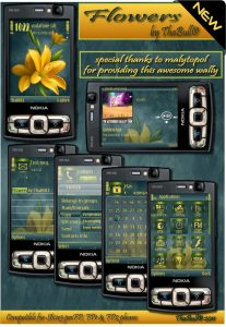s60v3 fp1 and fp2 phone theme flowers by thabull