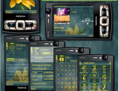 Flowers Symbian60 3rd edition mobile theme by Thabull