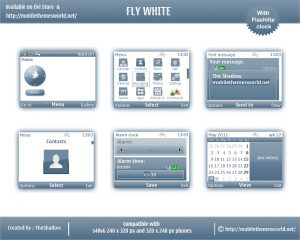 free nokia c3, x2 theme fly white by TheShadow