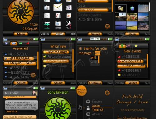 Fools Gold Orange and Lime Sony ericsson theme by ShaolinAssassin