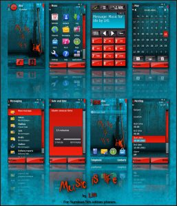 Symbian 5th edition theme music is life by lhs