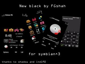 Symbian3 new black mobile themes